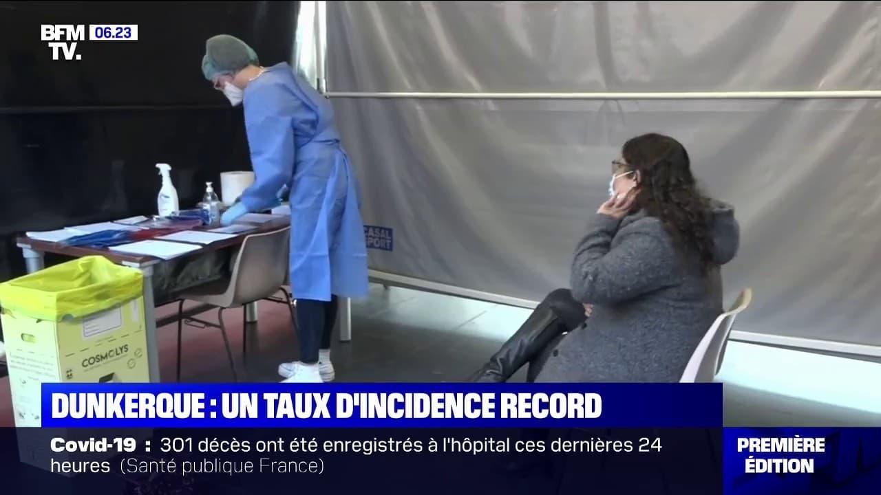 Covid-19: 1039 cas pour 100.000 habitants, un taux d'incidence record à Dunkerque
