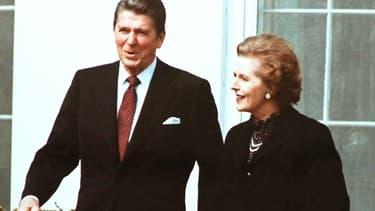 Margaret Thatcher était une admiratrice de Ronald Reagan. Ici, à la Maison Blanche, en 1981.