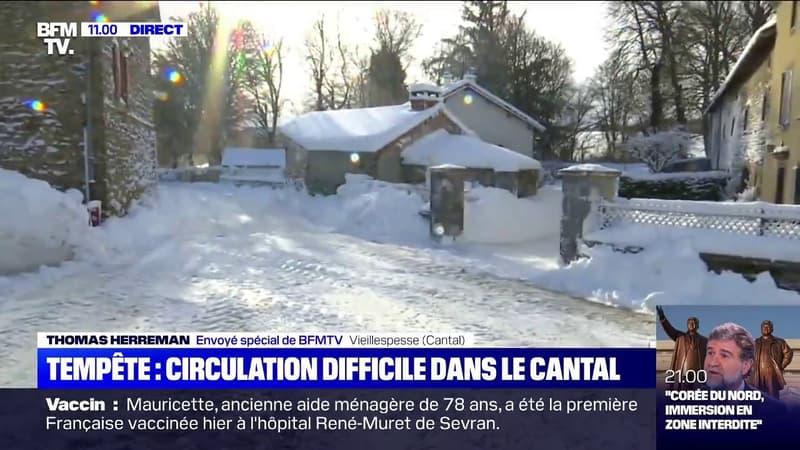 Circulation difficile dans le Cantal après d'abondantes chutes de neige