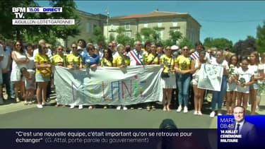 Une marche blanche a lieu en l'honneur de Mélanie Lemée, la gendarme tuée dans le Lot-et-Garonne. Elle a été tuée samedi dernier par un chauffard qui a refusé d'obtempérer lors d'un contrôle routier.