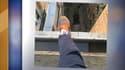 Le jeune homme avait posté une photo de son pied dans le vide, prêt à sauter.