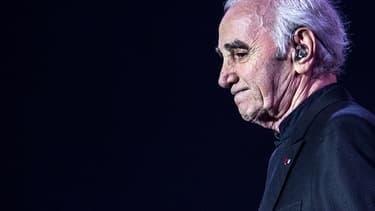 Charles Aznavour sur scène en janvier 2016