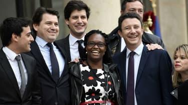 Stephane Séjourné, Sylvain Fort, Julien Denormandie, Sibeth Ndiaye,  Benjamin Griveaux, et  Arnaud Leroy