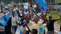 Des partisans de Joseph Kabila célèbrent la victoire de leur candidat à la présidentielle du 28 novembre en République démocratique du Congo. Des résultats provisoires officiels ont donné la victoire au président sortant mais l'opposant Etienne Tshisekedi