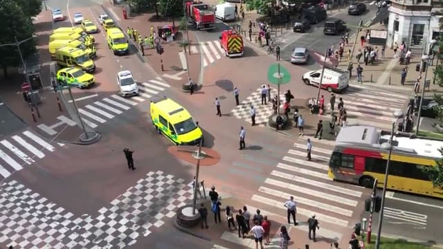 Le carrefour où a eu lieu une attaque terroriste à Liège le 29 mai 2018