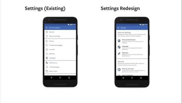 À gauche, l'ancien interface et à droite le nouveau