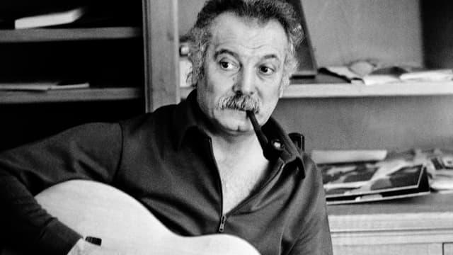 Georges Brassens en octobre 1972