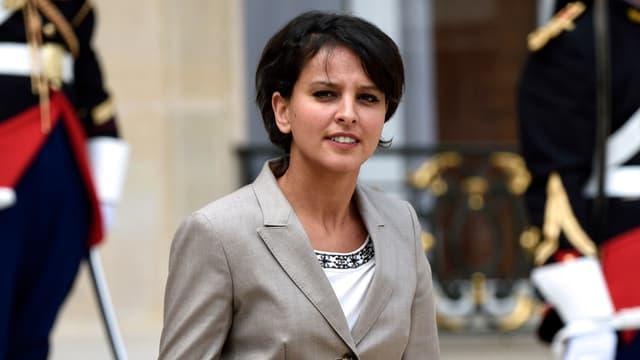 Najat Vallaud-Belkacem a défendu sa réforme, à la sortie du Conseil des ministres.