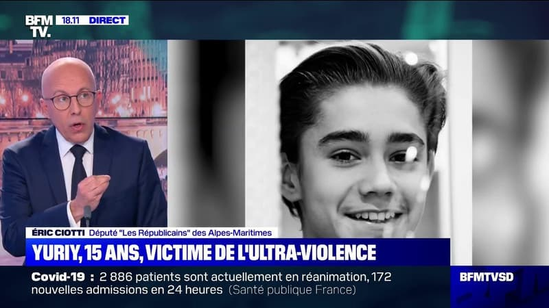 """Éric Ciotti (LR) sur l'agression de Yuriy: """"Nous sommes face à de nouveaux barbares"""""""