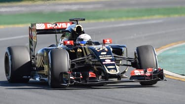La Lotus de Romain Grosjean.