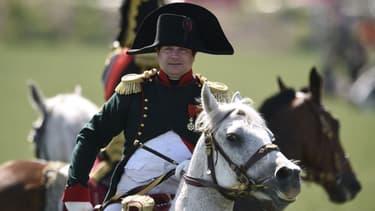 Reconstitution de la bataille de Waterloo en juin 2015.