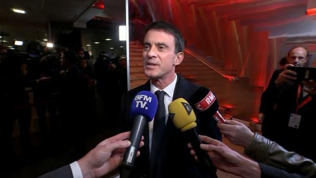 Manuel Valls face aux journalistes le 15 janvier 2017.