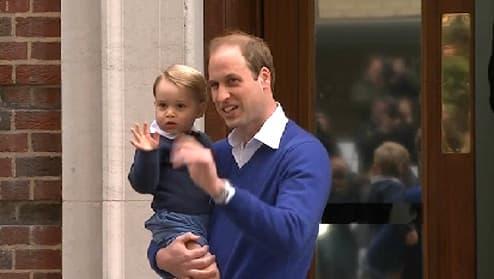 Le Prince William et son fils Bébé George.