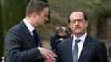 François Hollande ici en compagnie du Premier ministre luxembourgeois Xavier Bettel