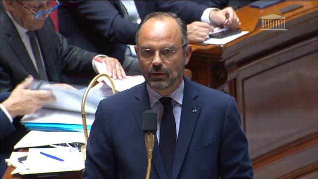 Édouard Philippe à l'Assemblée nationale mardi 1er octobre.
