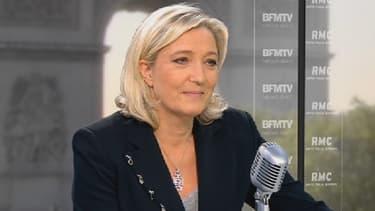 La présidente du Front national Marine Le Pen, le 27 mai 2013 sur BFMTV