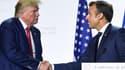 Les présidents Trump et Macron