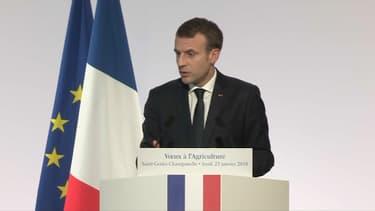 Emmanuel Macron a présenté ses voeux au monde agricole.