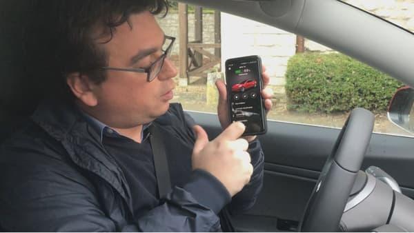 La clé de la Tesla, c'est votre smartphone!