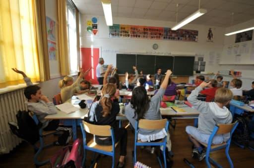 Des élèves d'une école primaire le 05 septembre 2011 à Nantes