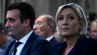 Florian Philippot et Marine Le Pen.