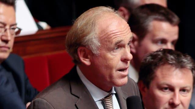Le député des Bouches-du-Rhône Dominique Tian dans l'Hémicycle en 2013.