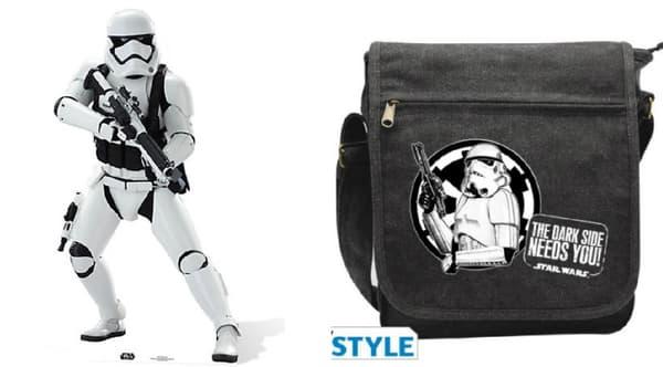 La silhouette Stormtrooper (39,99 euros) et la besace Troopers (21,90 euros)