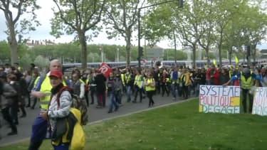 Rassemblement de gilets jaunes à Lyon, le 11 mai 2019