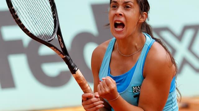 Marion Bartoli en pleine joie à Roland-Garros.
