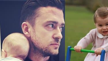 Justin Timberlake, la princesse Charlotte, Harper et Victoria Beckham