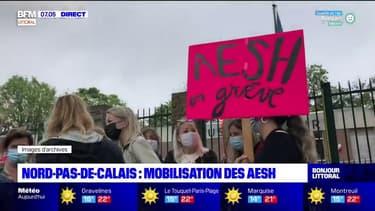 Pas-de-Calais: les accompagnants d'enfants handicapés en milieu scolaire manifestent