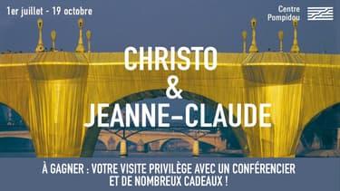 BFM PARIS Jeu concours Exposition Christo et Jeanne-Claude Paris ! 2020