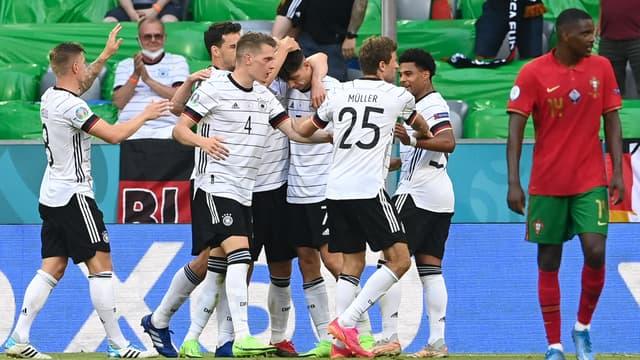 L'Allemagne célèbre un but face au Portugal à l'Euro 2021