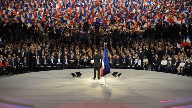 Le meeting de Villepinte est devenu le symbole des excès de la campagne 2012 de Sarkozy