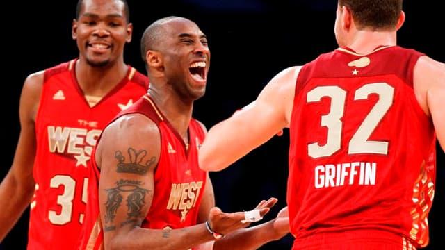 Kevin Durant, Kobe Bryant et Blake Griffin