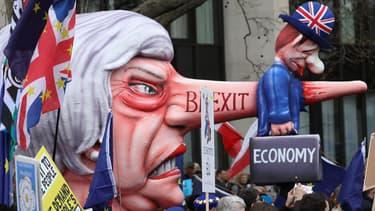Manifestation historique contre le Brexit à Londres, ce samedi 23 mars.