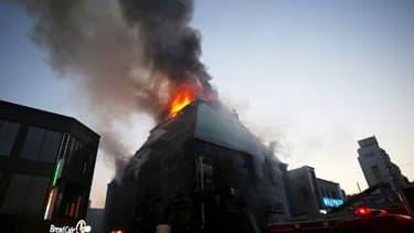 L'incendie en Corée du sud, à 120 kms au sud-est de Séoul