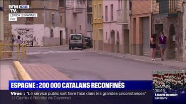 200.000 catalans reconfinés en Espagne dans la région de Lérida