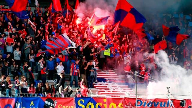Les supporters du Gazélec Ajaccio