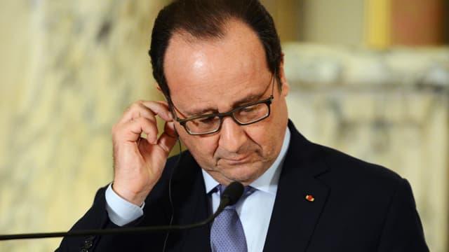 François Hollande à Lima, au Pérou, le 23 février.