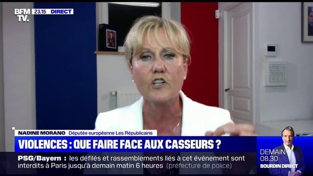 """Nadine Morano, députée européenne """"Les Républicains"""" était invité sur BFMTV dans l'émission """"22h Max"""""""