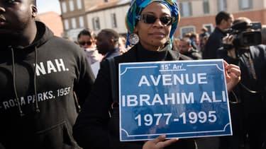 Une avenue en hommage à Ibrahim Ali a été inaugurée ce dimanche à Marseille. Ici un précédent hommage le 21 février 2020.