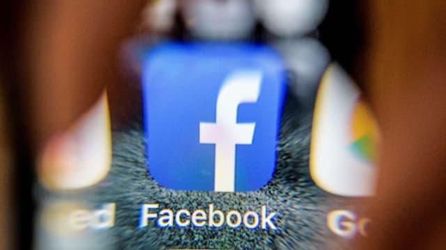 L'icône de l'application Facebook.