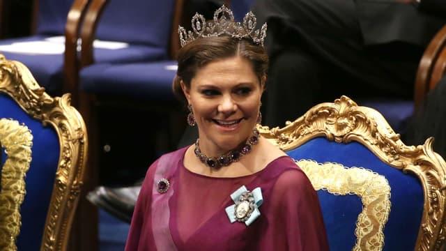 La Princesse Victoria de Suède lors de la remise du Prix Nobel à Stockholm en décembre 2015