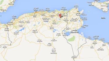 Le crash s'est produit à Oum El Bouaghi, à 500 kilomètres à l'est d'Alger. (Capture d'écran Google Maps)