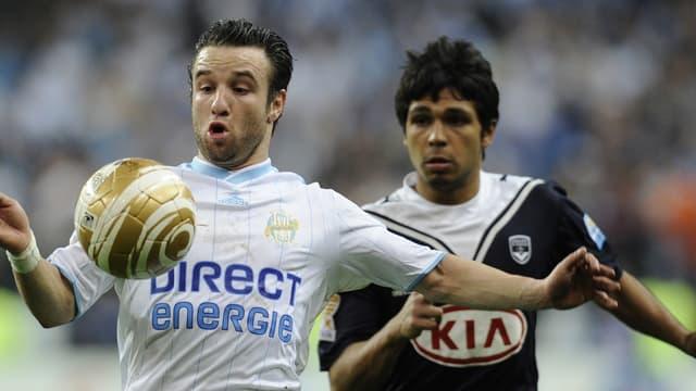 Mathieu Valbuena avec le maillot de l'OM