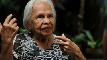 """Hilaria Bustamante, la """"femme de réconfort"""" la plus âgée des Philippines, à Manille le 15 janvier 2016"""