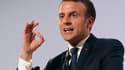Emmanuel Macron au dîner du Crif.
