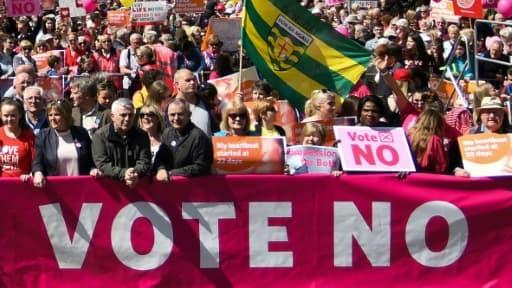 Manifestation anti-avortement à Dublin, en Irlande, le 12 mai 2018