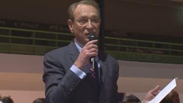 Bertrand Delanoë, le maire de Paris, lors d'une réunion publique sur les rythmes scolaires, le 19 février dernier.